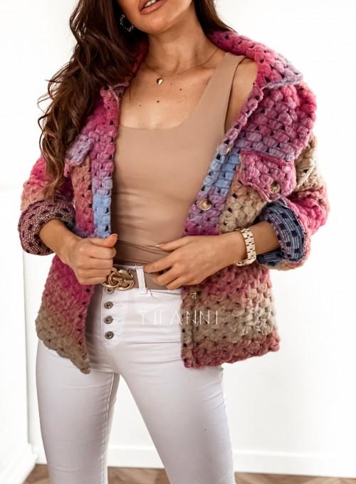 Kurtka koszulowa pink 7