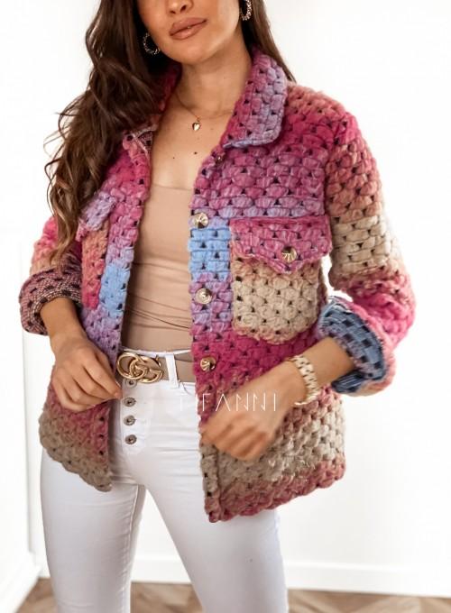 Kurtka koszulowa pink 8
