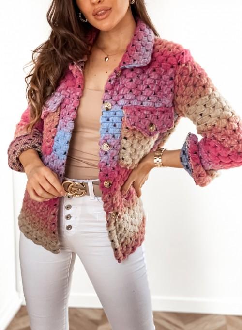 Kurtka koszulowa pink 9
