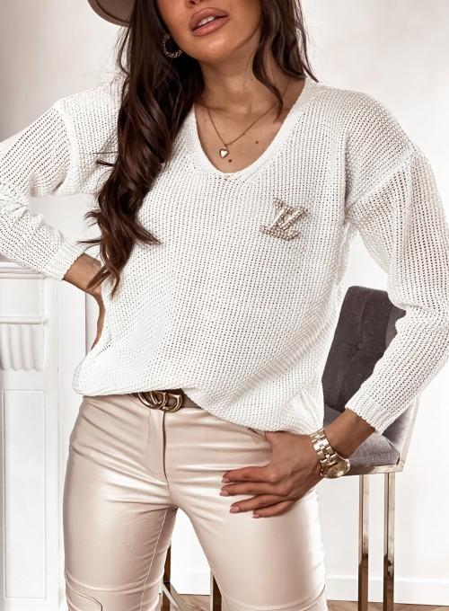 Sweter Santi śmietankowy 1