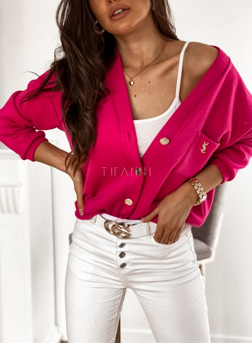 Sweter Daffi pink 1