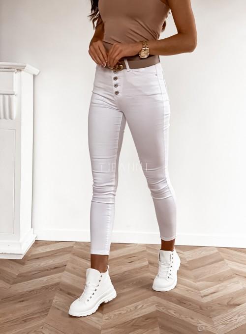 Spodnie jeansowe białe 6