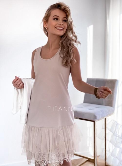 Sukienka Halka beżowa