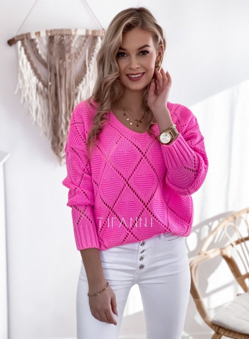 Sweter Dotty pink