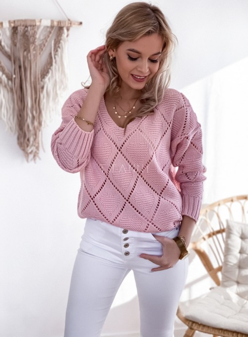 Sweter Dotty puder 4