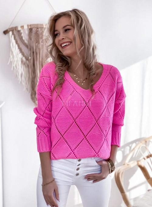 Sweter Dotty pink 1