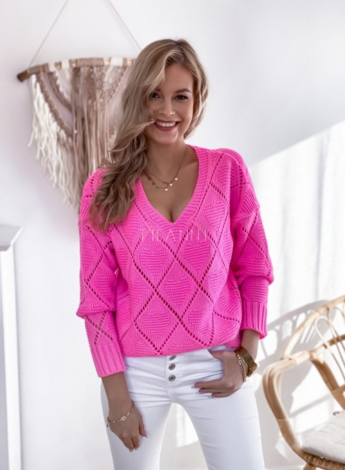 Sweter Dotty pink 2