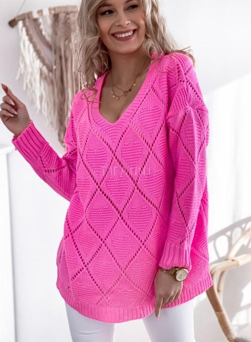 Sweter Dotty pink 3
