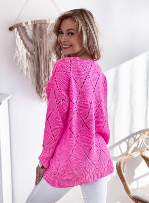 Sweter Dotty pink 4