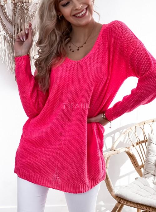 Sweter Santi koralowy 1