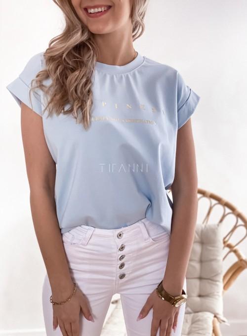 T-shirt happiness błękitny 1