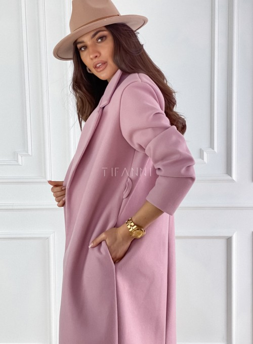 Płaszcz Ernesta w kolorze pudrowym 5