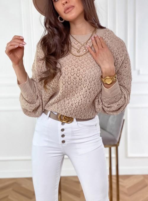 Sweter Lumia w kolorze beżowym 1