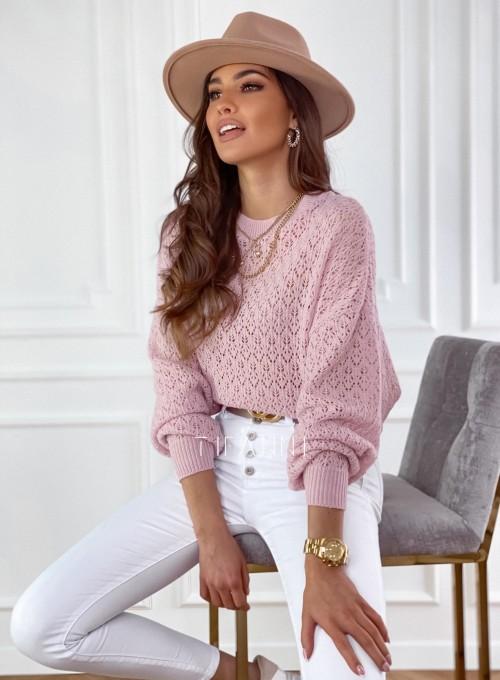 Sweter Lumia w kolorze pudrowym