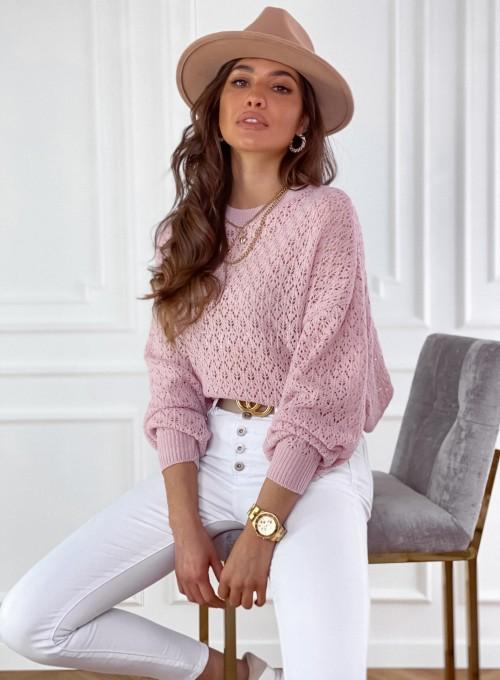 Sweter Lumia w kolorze pudrowym 2