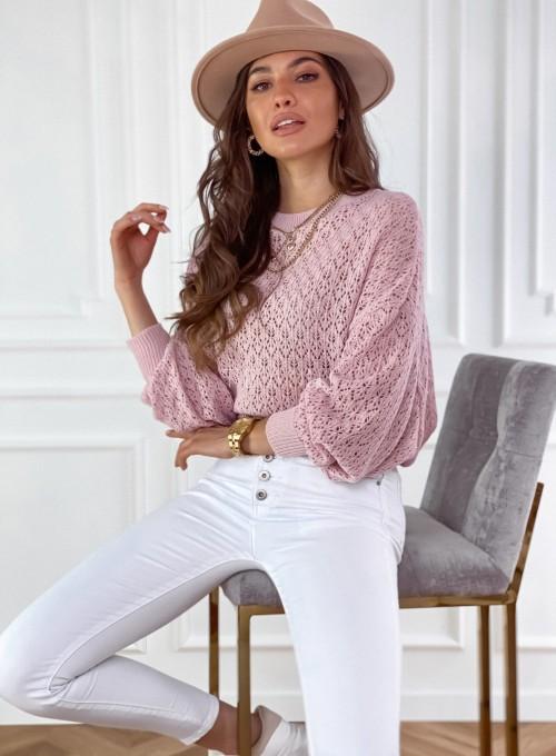 Sweter Lumia w kolorze pudrowym 3