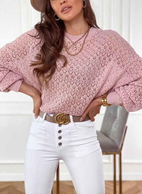 Sweter Lumia w kolorze pudrowym 1