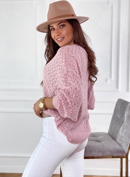 Sweter Lumia w kolorze pudrowym 4