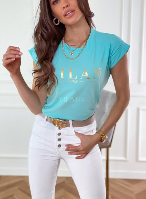 T-shirt Milan miętowy 1