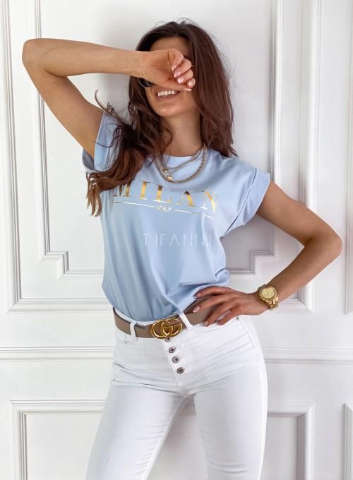 T-shirt Milan błękitny 3