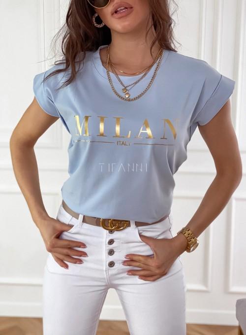 T-shirt Milan błękitny 1
