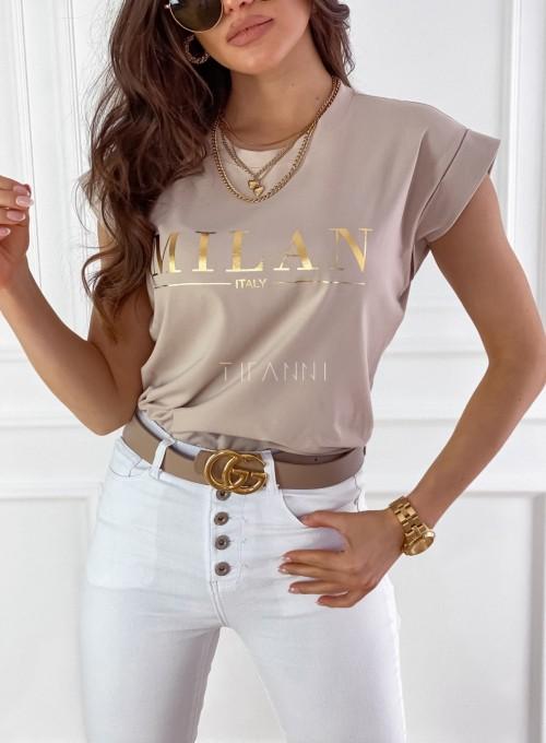 T-shirt Milan beżowy 1