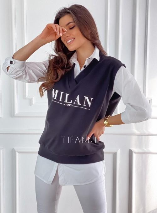 Kamizelka Milan czarna