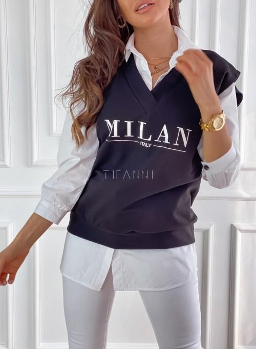 Kamizelka Milan czarna 1