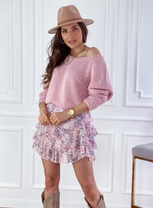 Sweter Cristal pudrowy 5