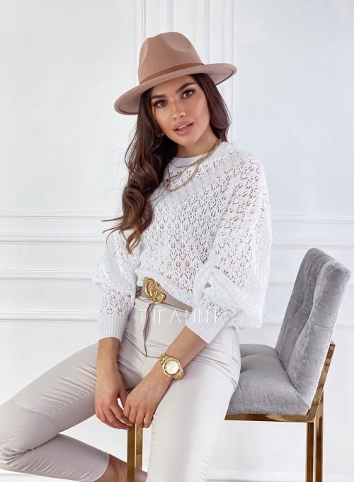Sweter Lumia w kolorze białym 4