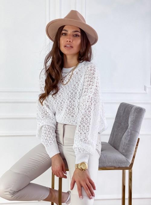 Sweter Lumia w kolorze białym 2