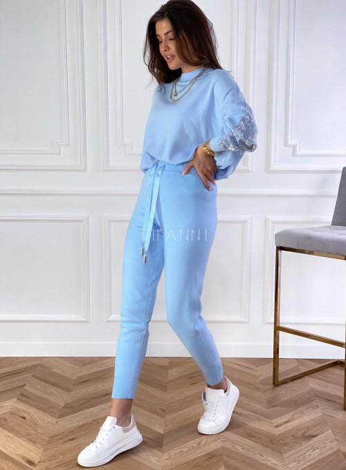 Spodnie Queenie blue 1