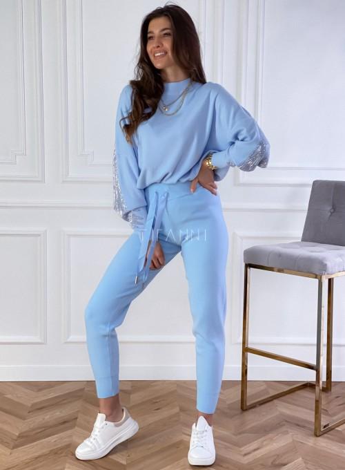 Spodnie Queenie blue 2
