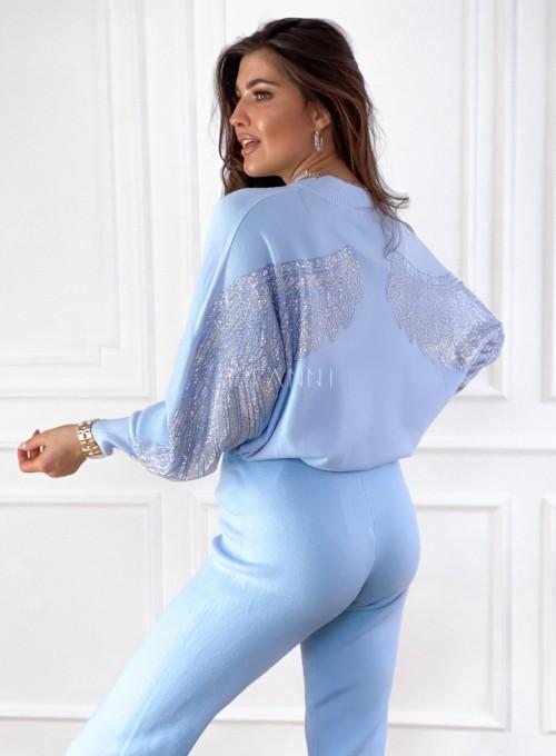 Spodnie Queenie blue 3