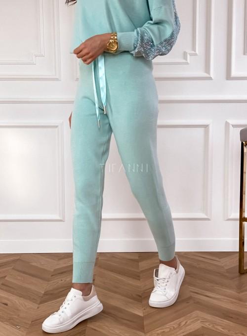 Spodnie Queenie miętowe 1