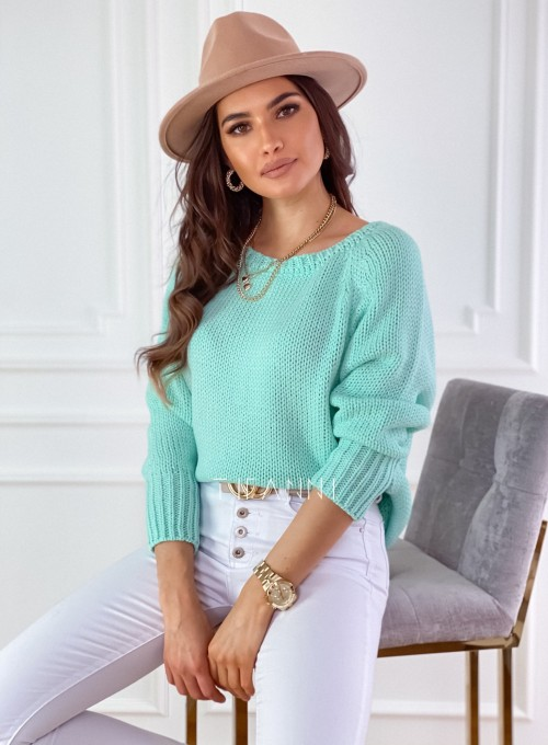 Sweter Cristal miętowy