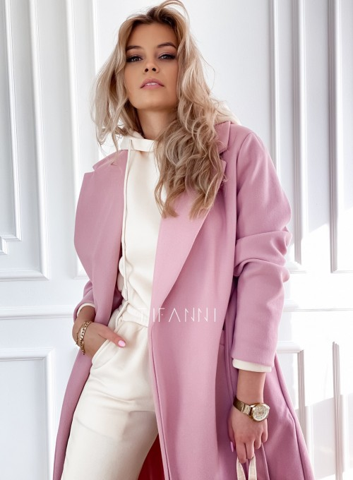 Płaszcz Brilante w kolorze pudrowym 2