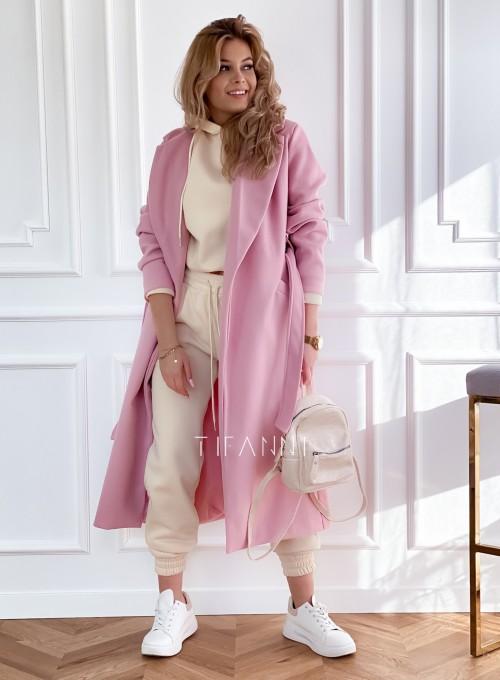 Płaszcz Brilante w kolorze pudrowym 3