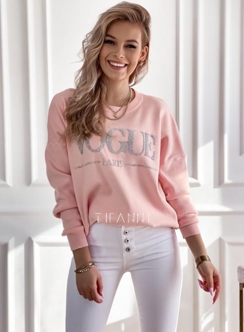 Bluza swetrowa dzianinowa Vogue pudrowa
