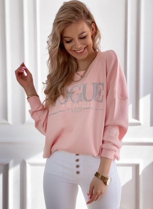 Bluza swetrowa dzianinowa Vogue pudrowa 2