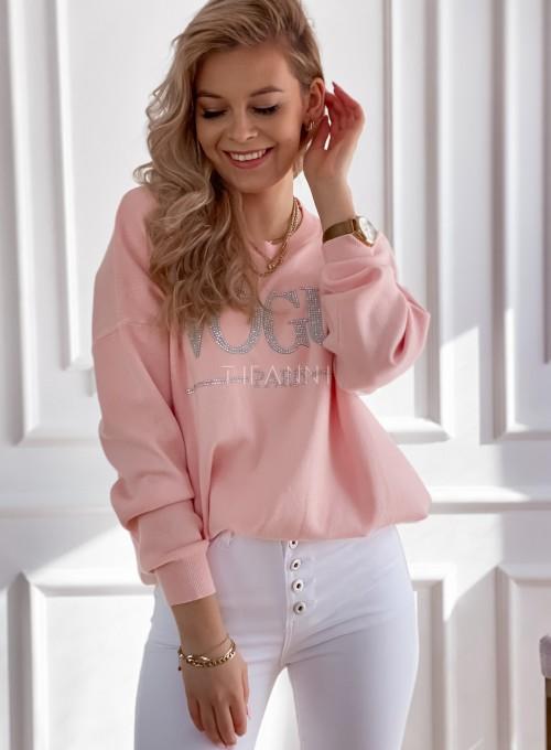 Bluza swetrowa dzianinowa Vogue pudrowa 3