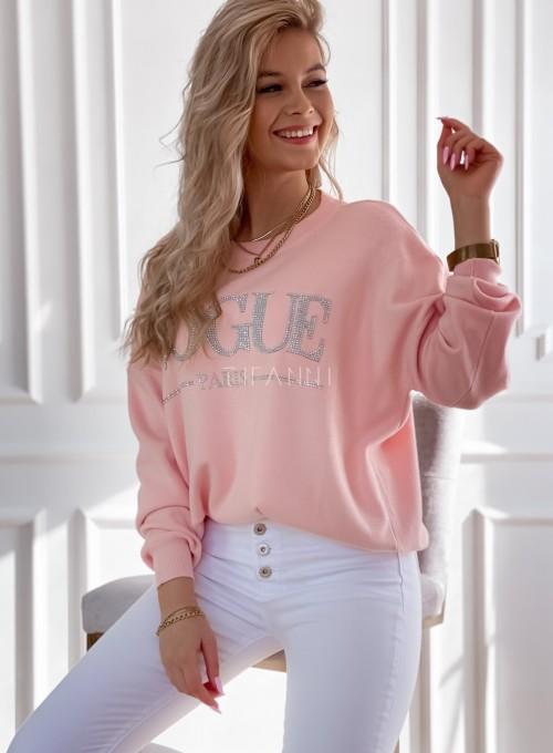Bluza swetrowa dzianinowa Vogue pudrowa 4