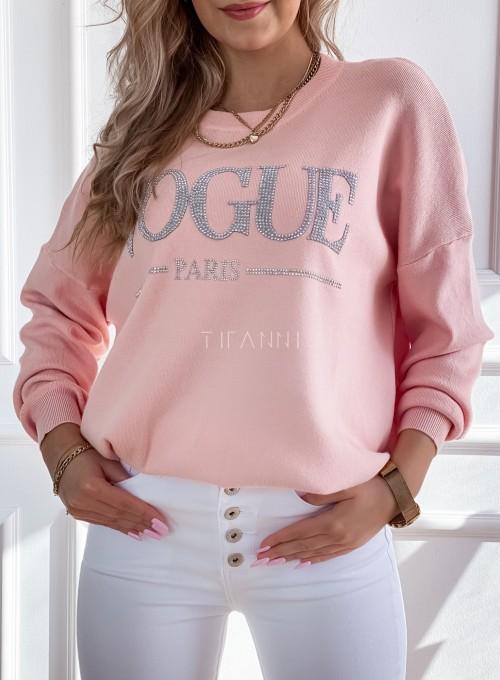 Bluza swetrowa dzianinowa Vogue pudrowa 1