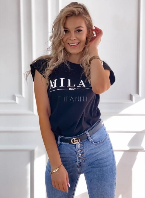 T-shirt Milan czarny 2