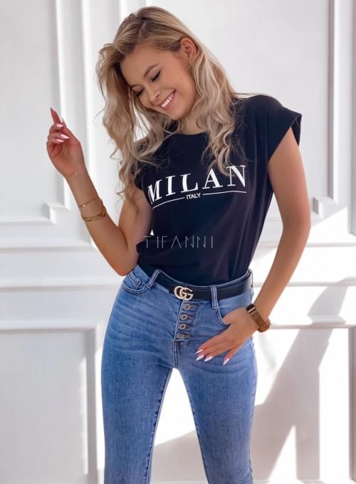 T-shirt Milan czarny 3