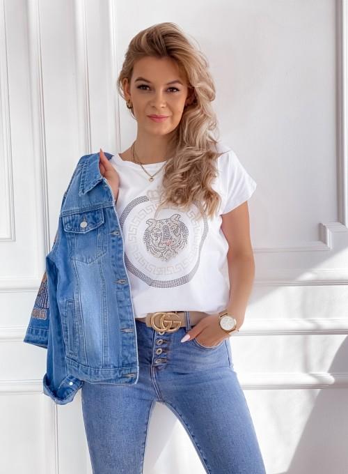 T-shirt Lion biały 4