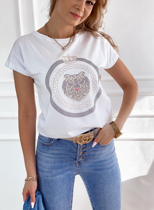 T-shirt Lion biały 1