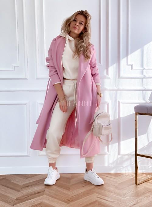 Płaszcz Brilante w kolorze pudrowym 5