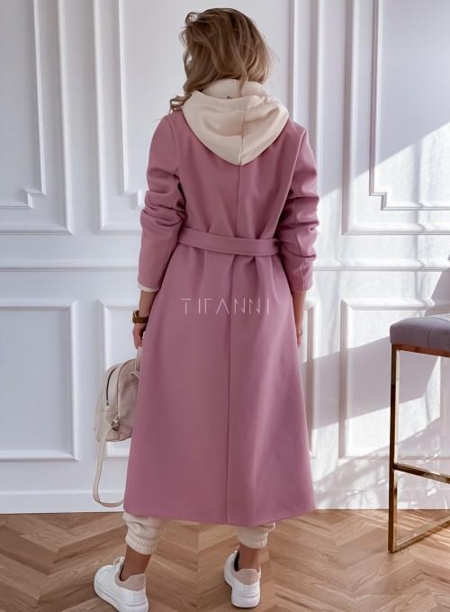 Płaszcz Brilante w kolorze pudrowym 7