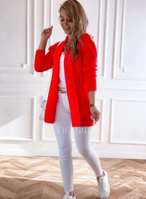 Sweter kardigan Nobi orange 2